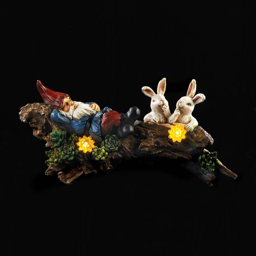 SLEEPING GNOME WITH BUNNIES 10018772
